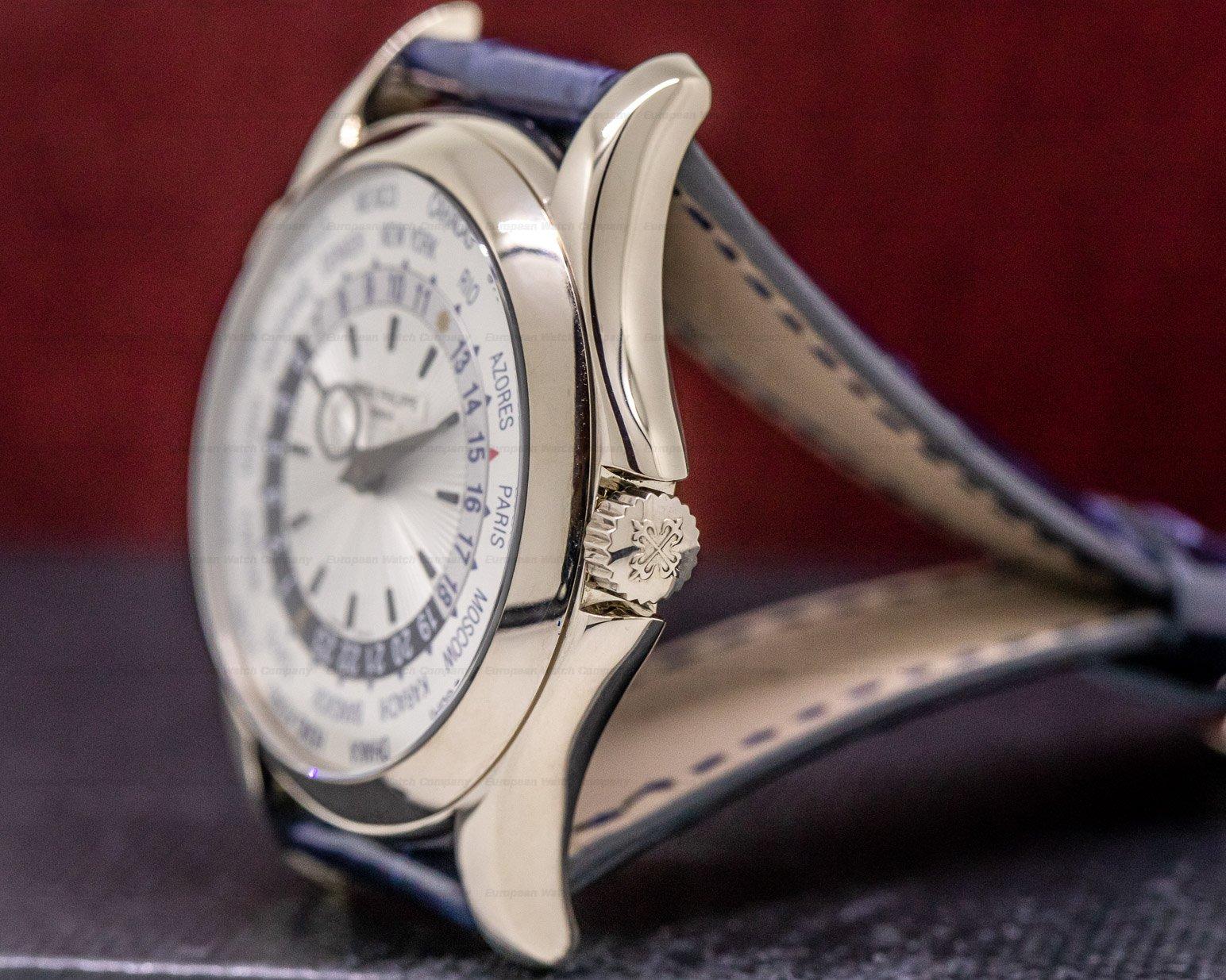 Patek Philippe 5130G-001 World Time 18K White Gold Silver Dial