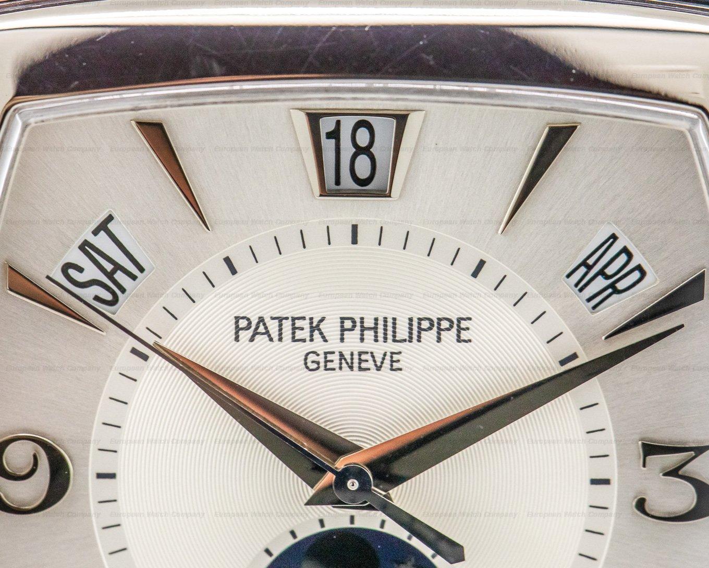 Patek Philippe 5135G-001 Gondolo Calendario 18K White Gold Silver Dial