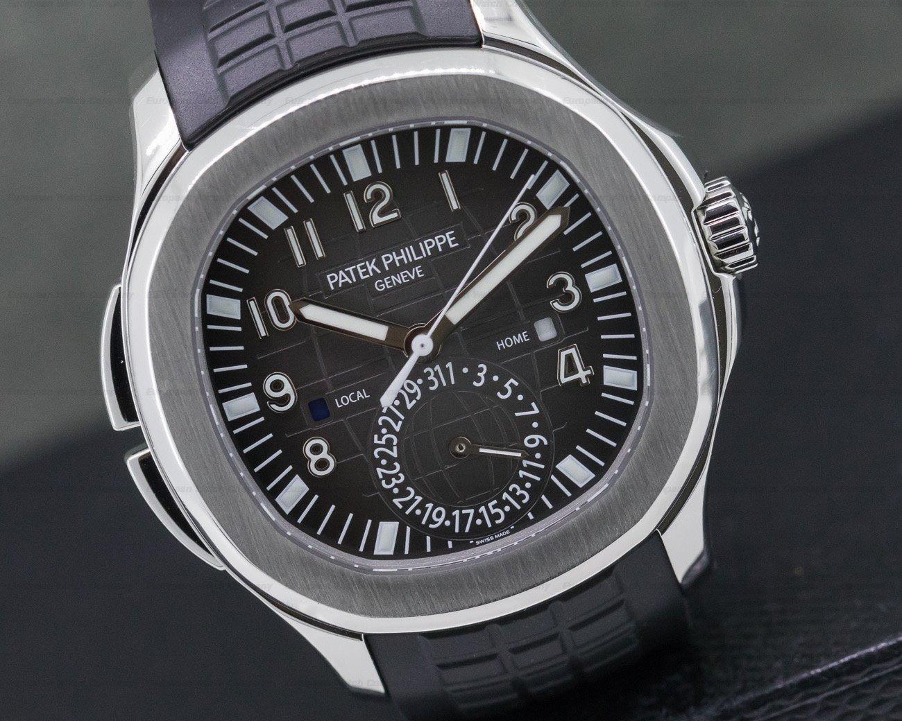 Patek Philippe 5164A-001 Aquanaut Travel Time SS / Rubber