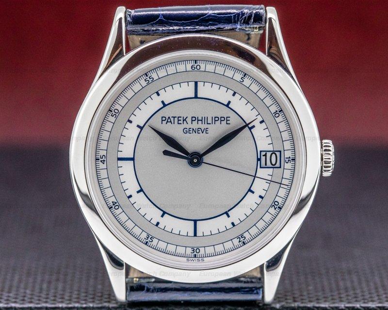 Patek Philippe 5296G-001 Calatrava 18K White Gold Sector Dial