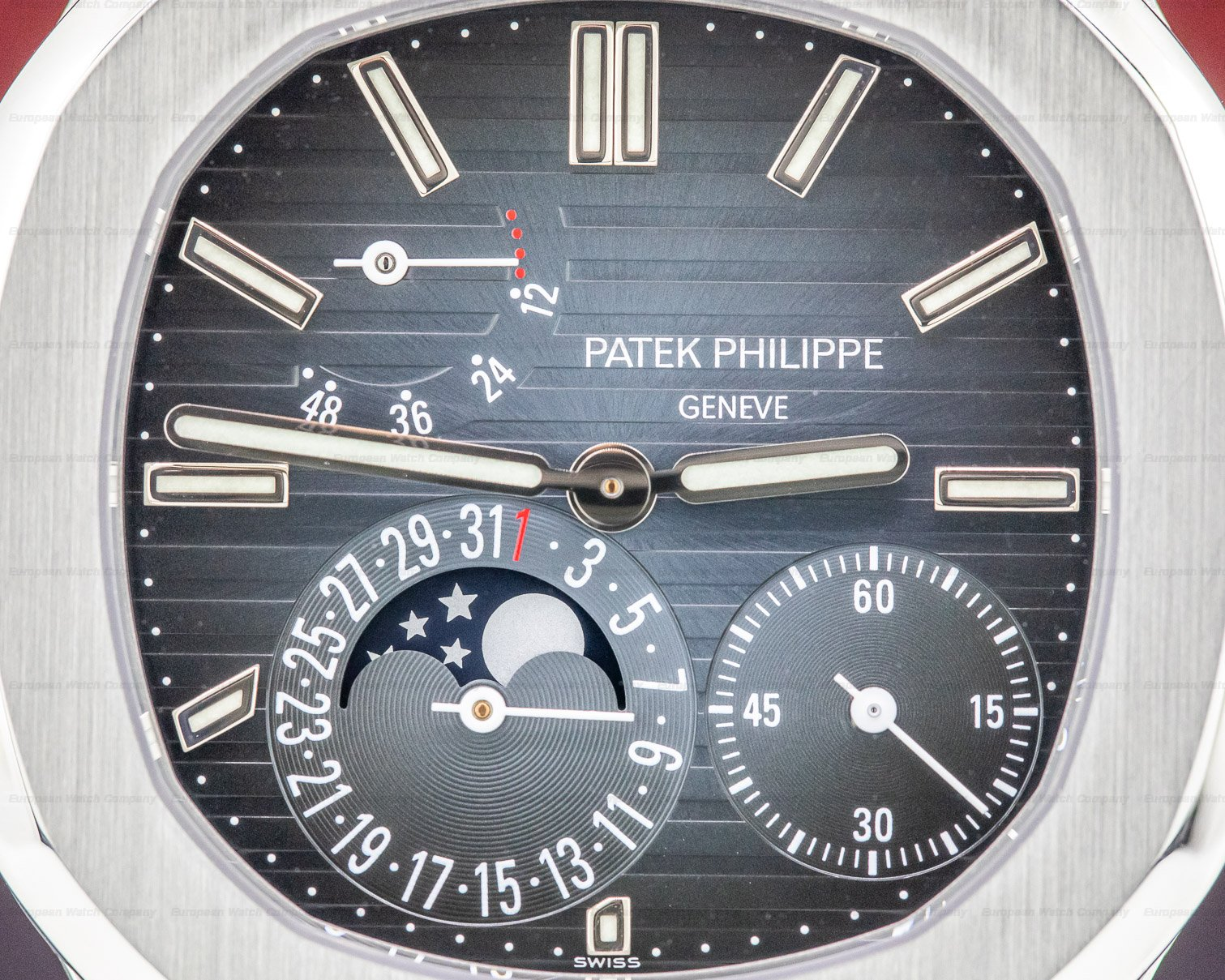 Patek Philippe 5712/1A-001 Jumbo Nautilus Moonphase Power Reserve SS