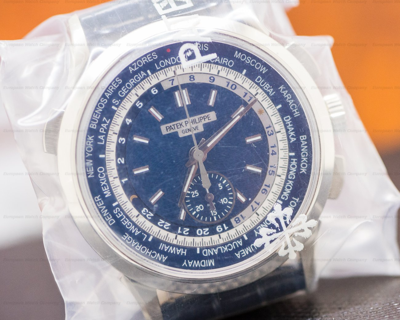 Patek Philippe 5930G-001 World Time Chronograph 18k White Gold UNWORN & SEALED