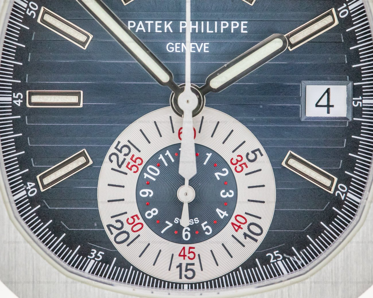 Patek Philippe 5980/1A-001 Nautilus Chronograph SS Blue Dial / FULL SET