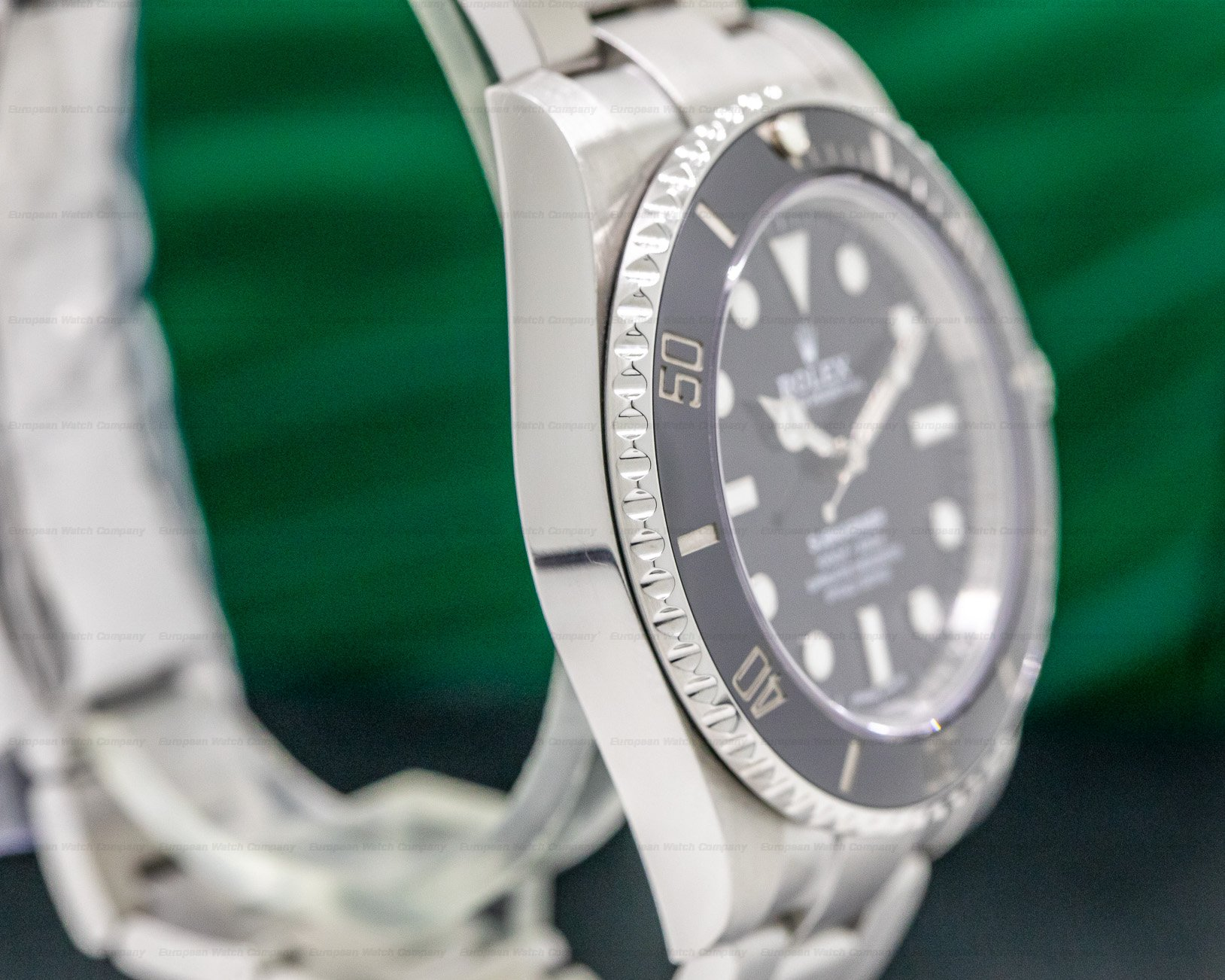 Rolex 114060 Submariner No Date Ceramic Bezel SS