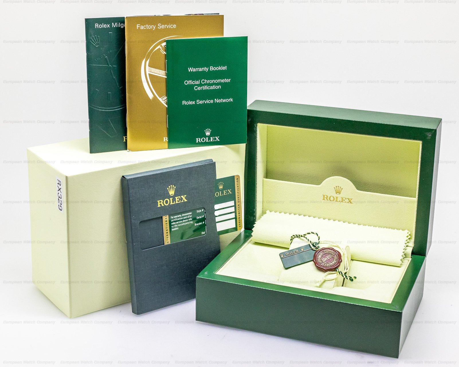 Rolex 116400V Milgauss SS Black Dial Green Crystal