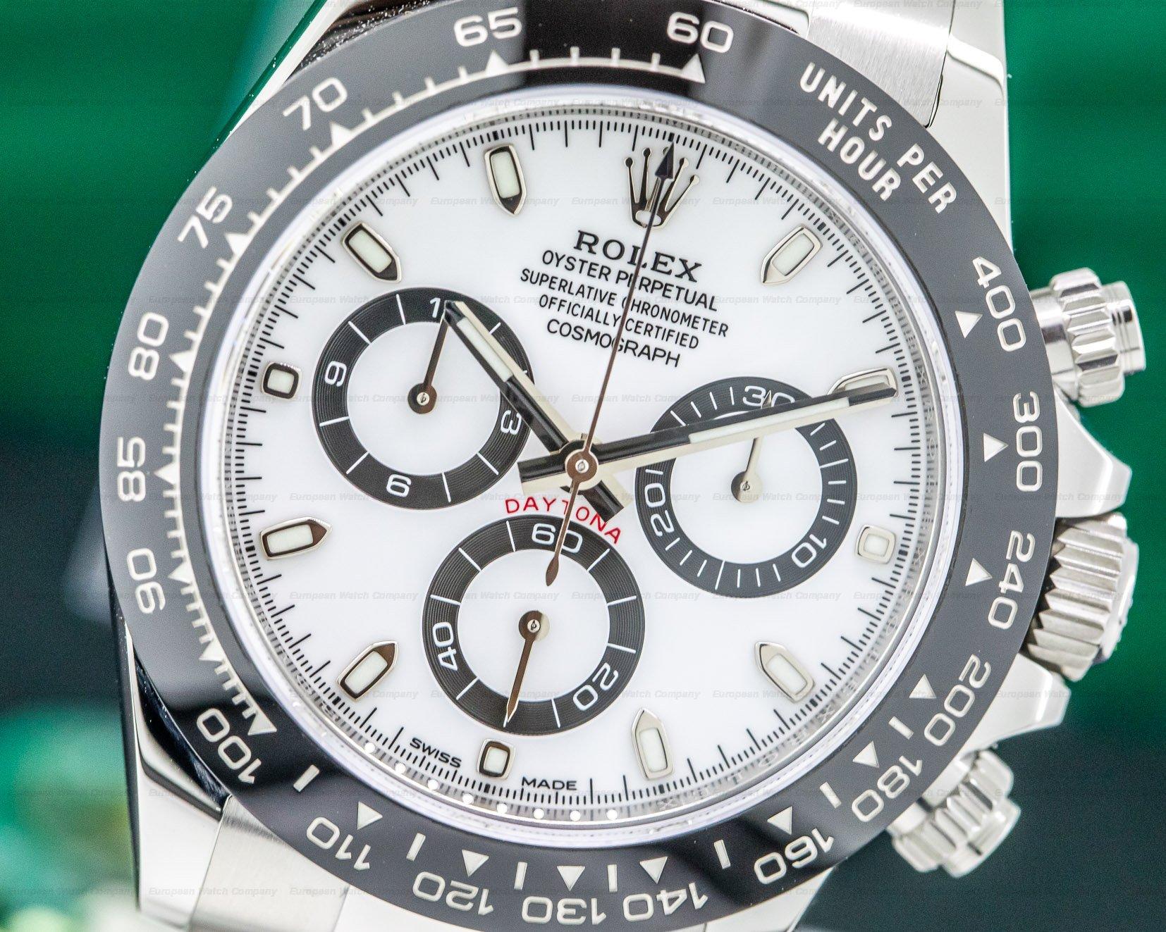 Rolex 116500LN Daytona Ceramic Bezel SS / White Dial UNWORN