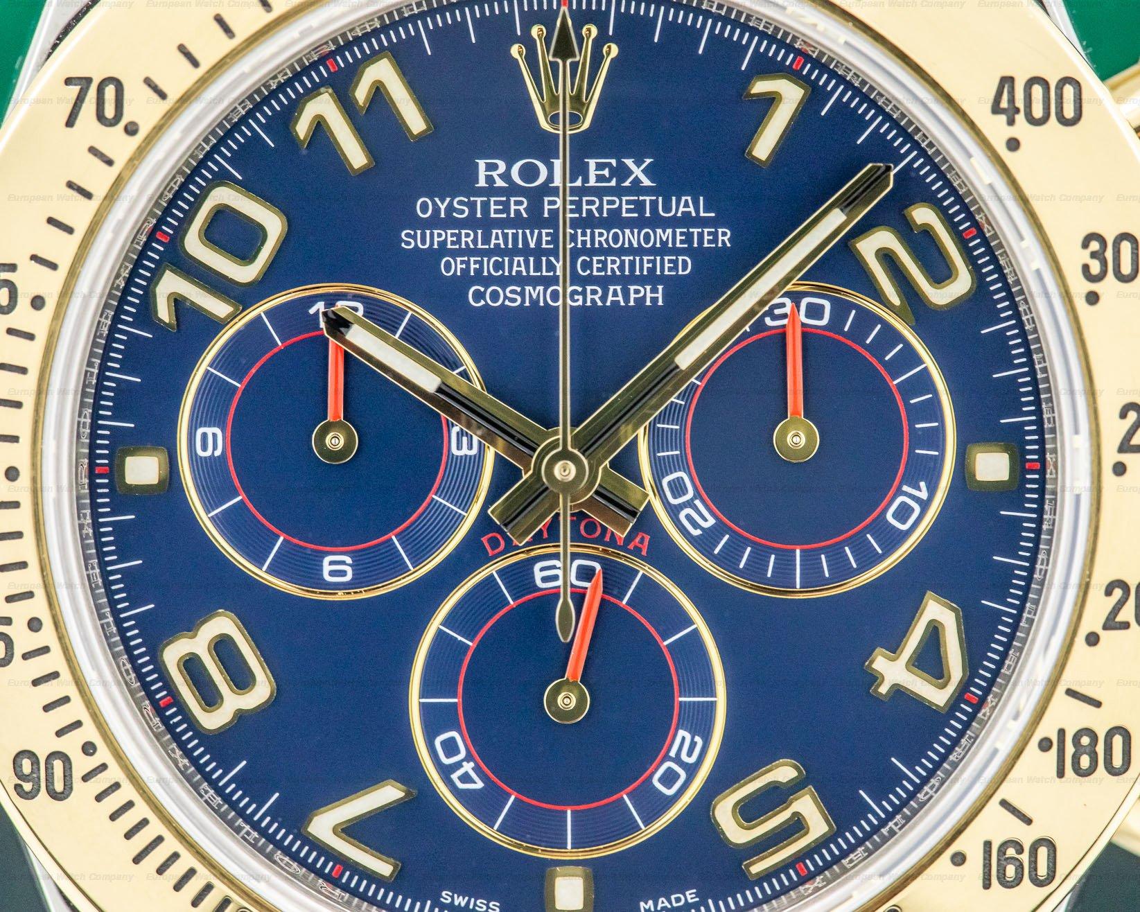 Rolex 116523 Daytona Blue Dial 18K Yellow Gold / SS