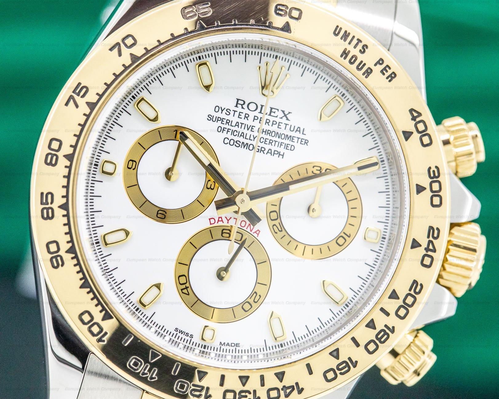 Rolex 116523 Daytona White Dial 18K / SS