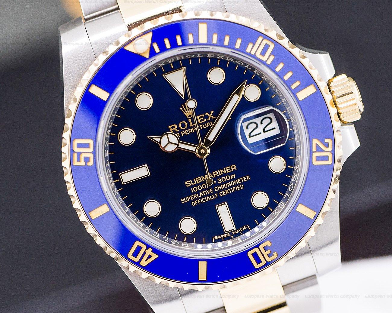 Rolex 116613LB Submariner Ceramic Blue Dial 18K / SS