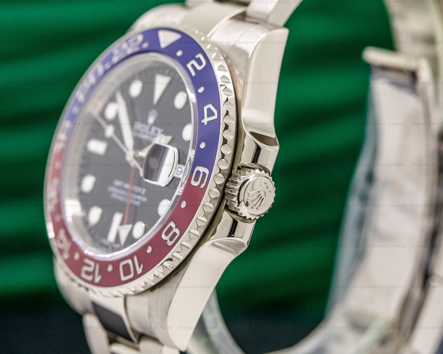 Rolex 116719BLRO GMT Master II Blue / Red 18K White Gold