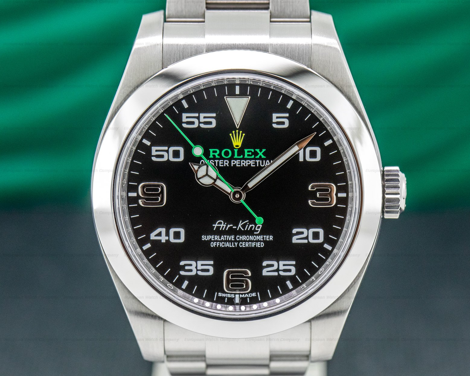 Rolex 116900 Air King OMAN KHANJAR Black Dial SS FULL SET