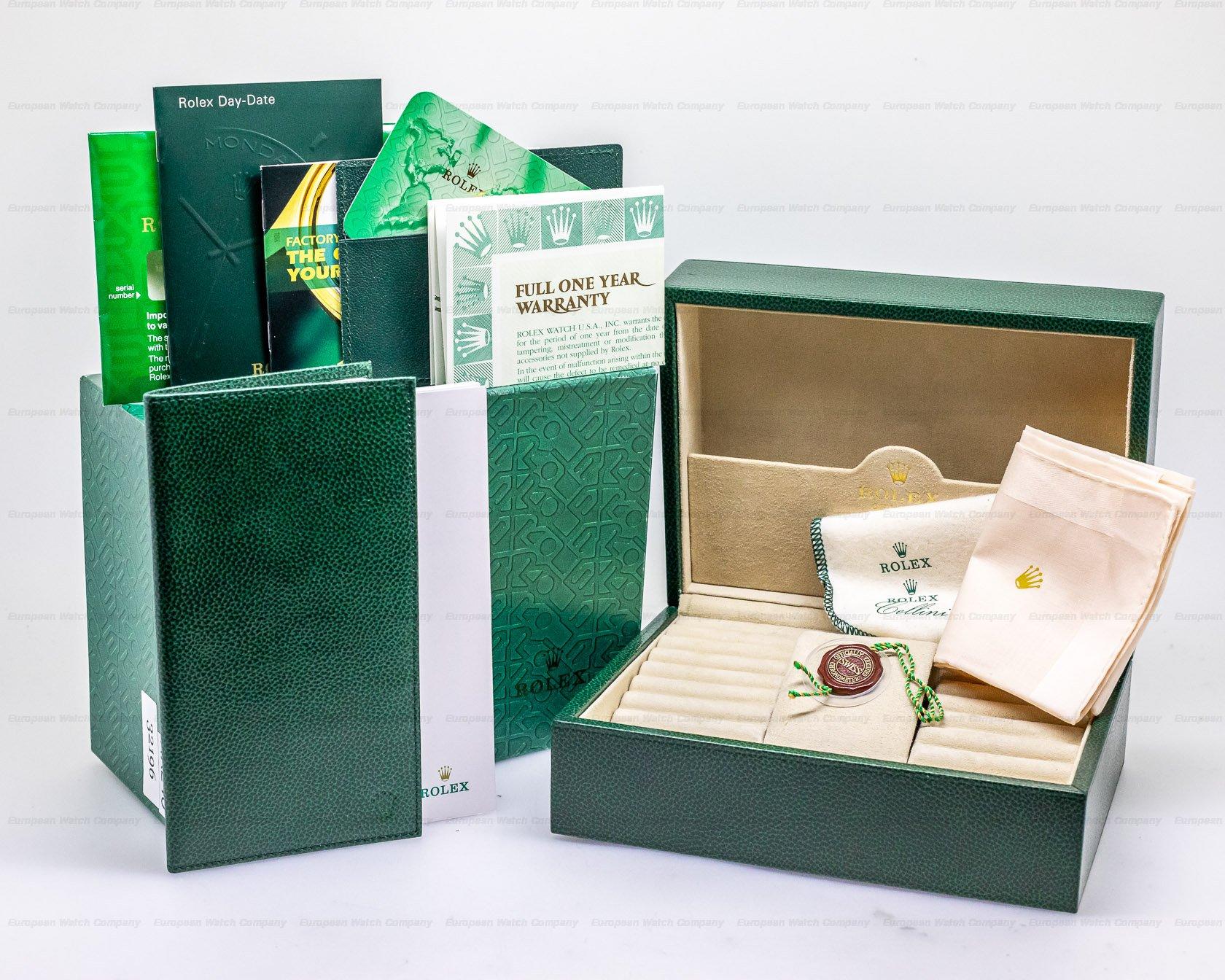 Rolex 118205 Day Date Oyster President Rose Roman 18K Rose Gold FULL SET