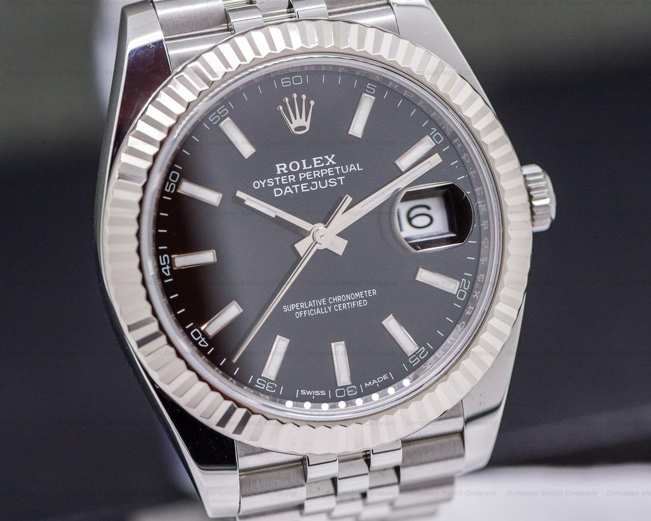 Rolex 126334 Datejust 41 Black Stick Dial SS / Jubilee
