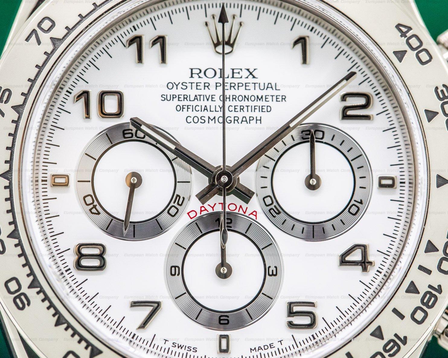 Rolex 16519 Daytona 18K White Gold Zenith Movement