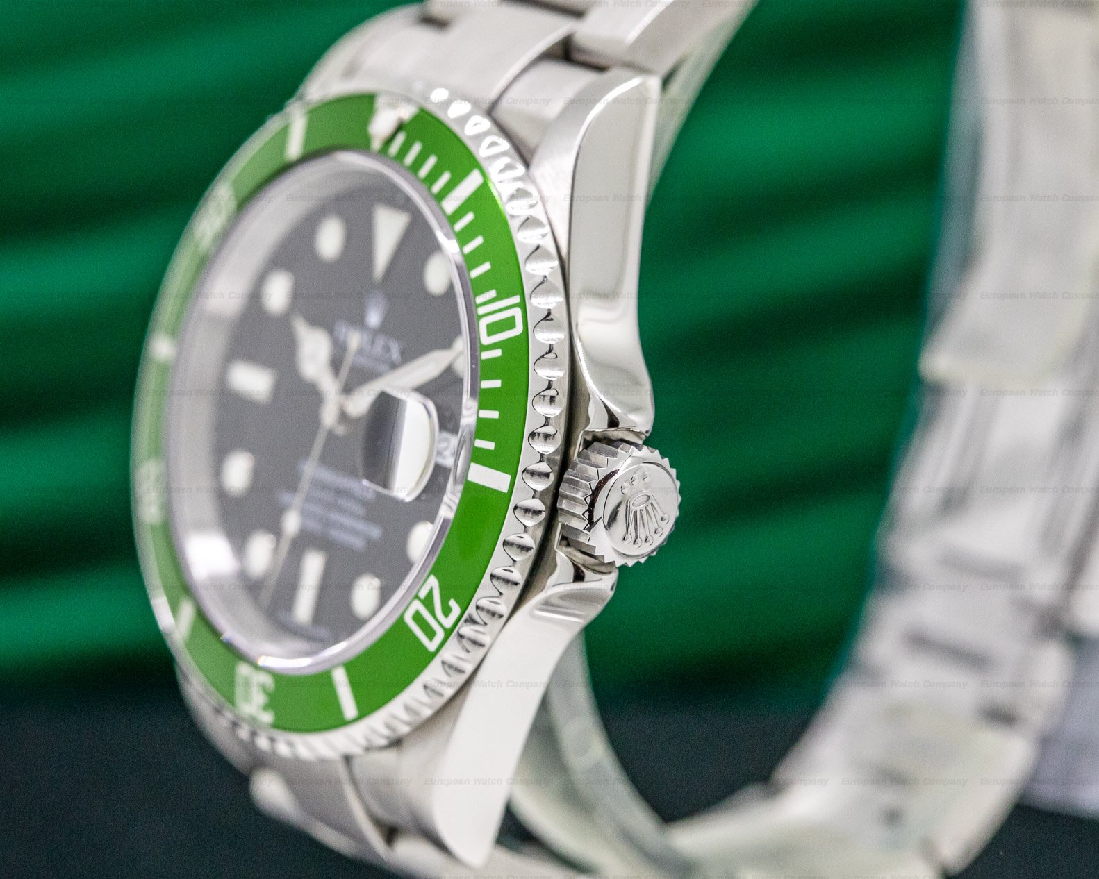 Rolex 16610LV Submariner 50th Anniversary SS Green Bezel