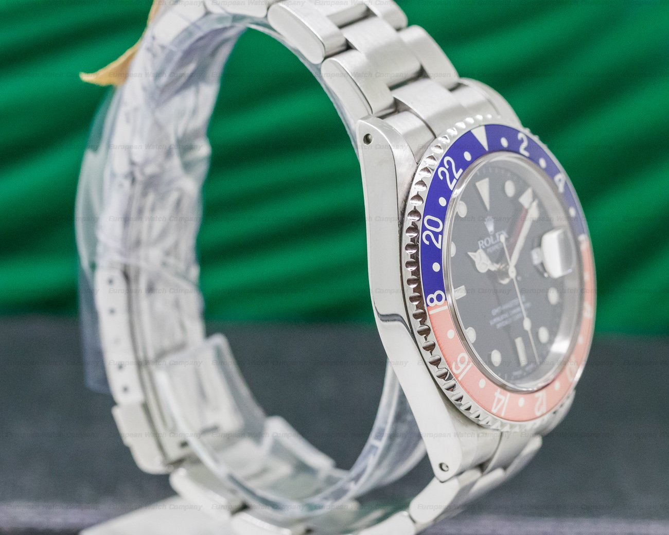 Rolex 16710 GMT Master II SS Red / Blue Pepsi Bezel FADED