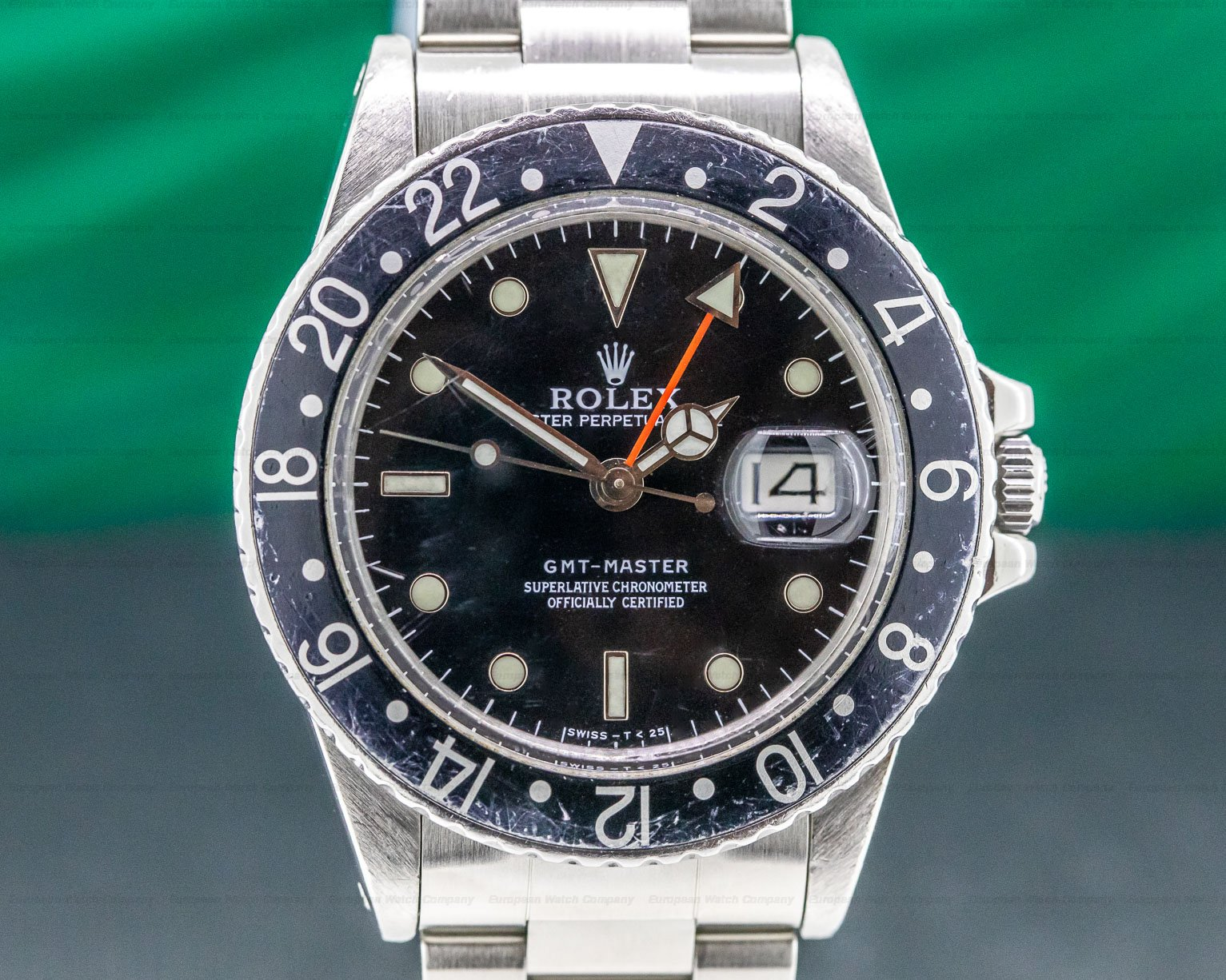 Rolex 16750 GMT Master SS / SS Black Bezel Circa 1984 FULL SET