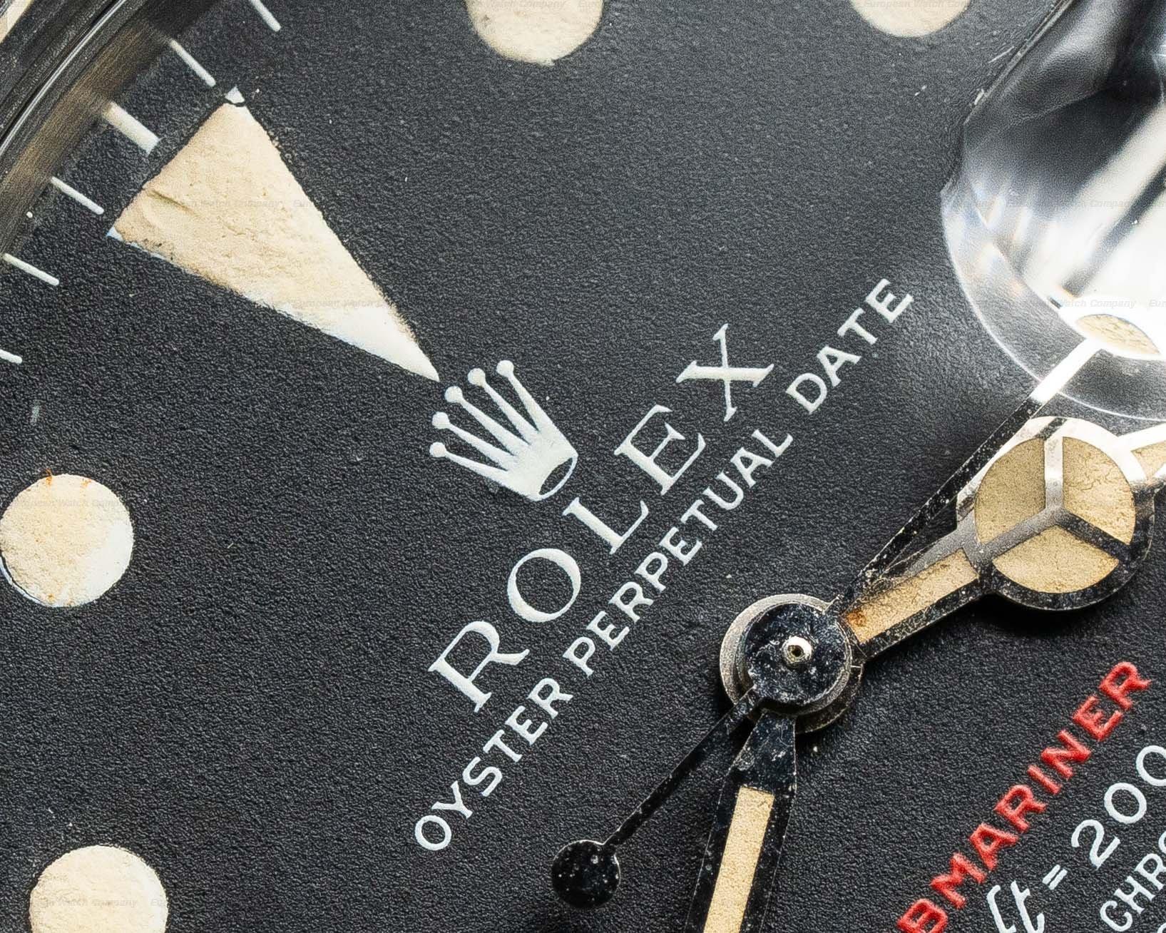 Rolex 1680 RED Submariner RED MK IV Circa 1973 SS