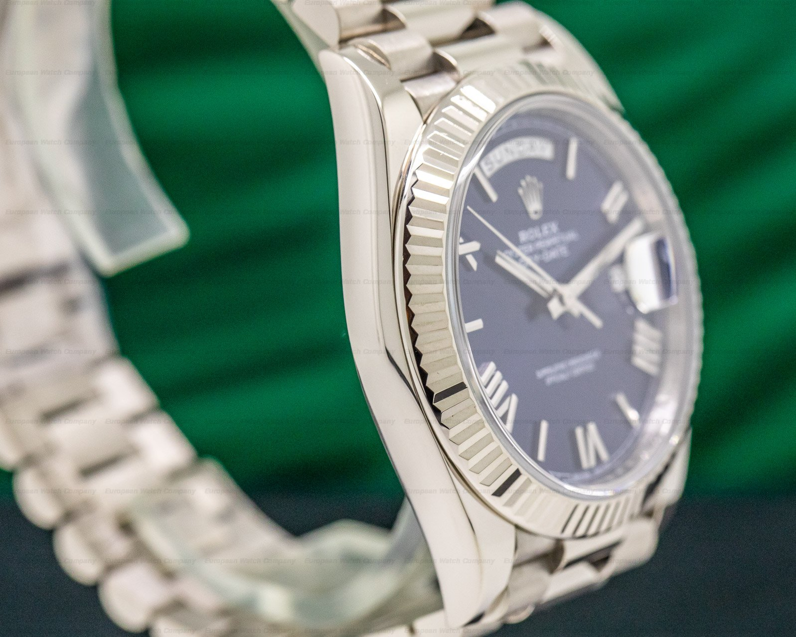 Rolex 228239 Day Date President 18K White Gold Blue Dial 40MM