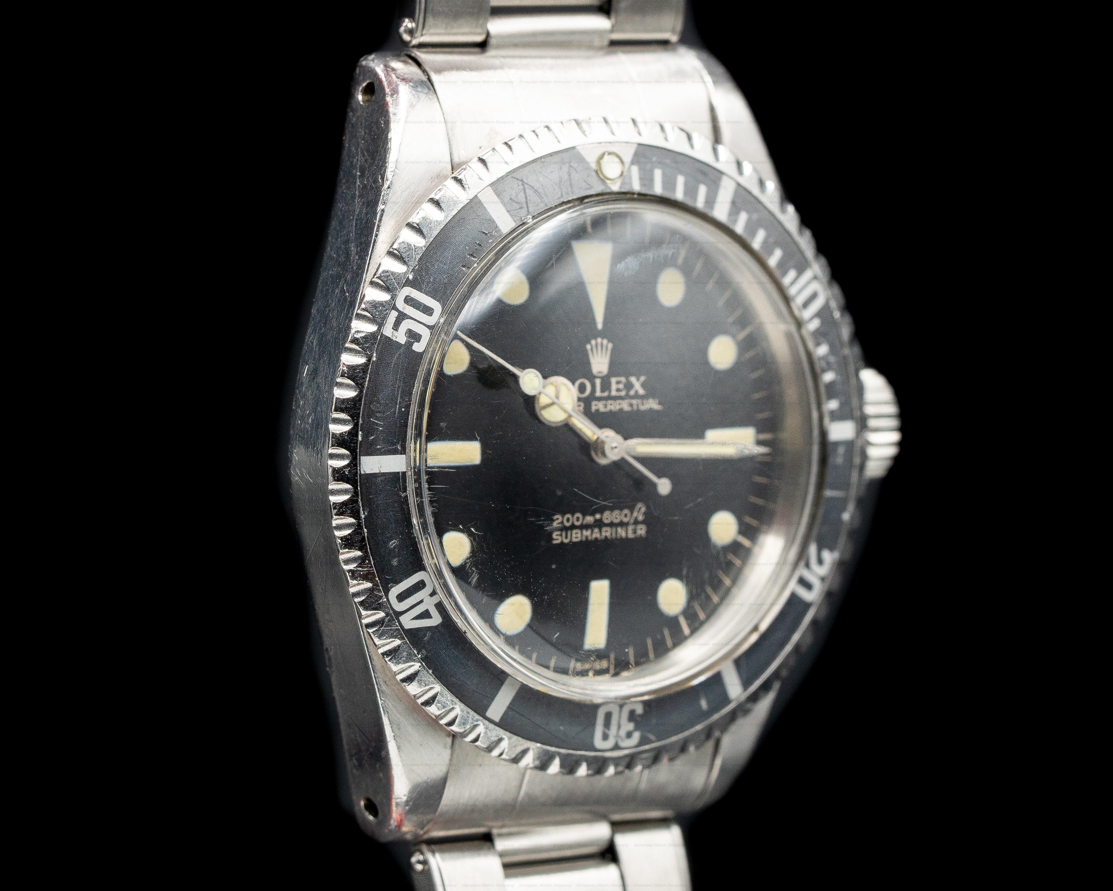 Rolex 5513 Gilt Gilt 5513 Submariner Glossy NICE Circa 1964