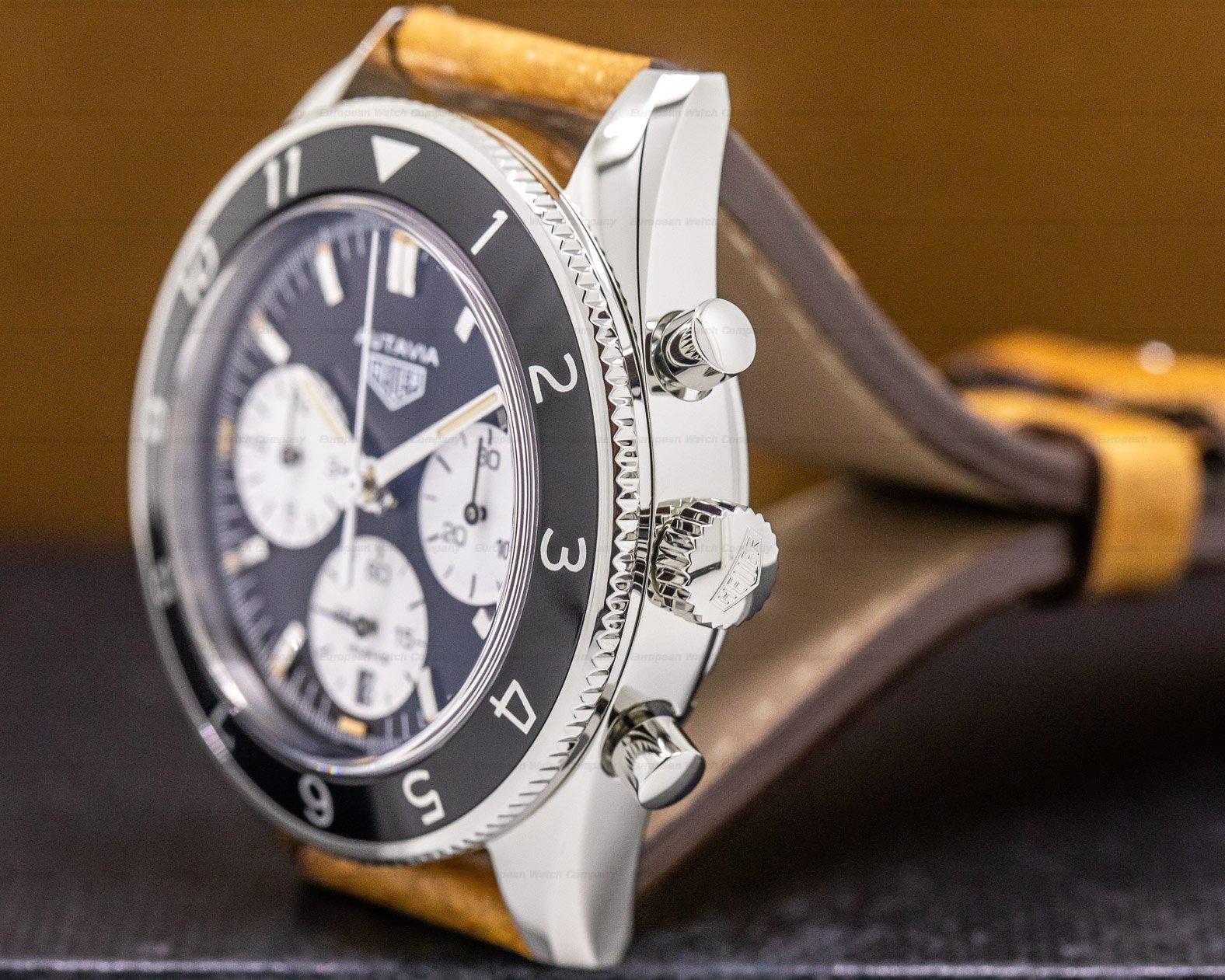 "TAG Heuer CBE2110 Autavia Heritage Chronograph SS/Strap ""Panda Dial"""