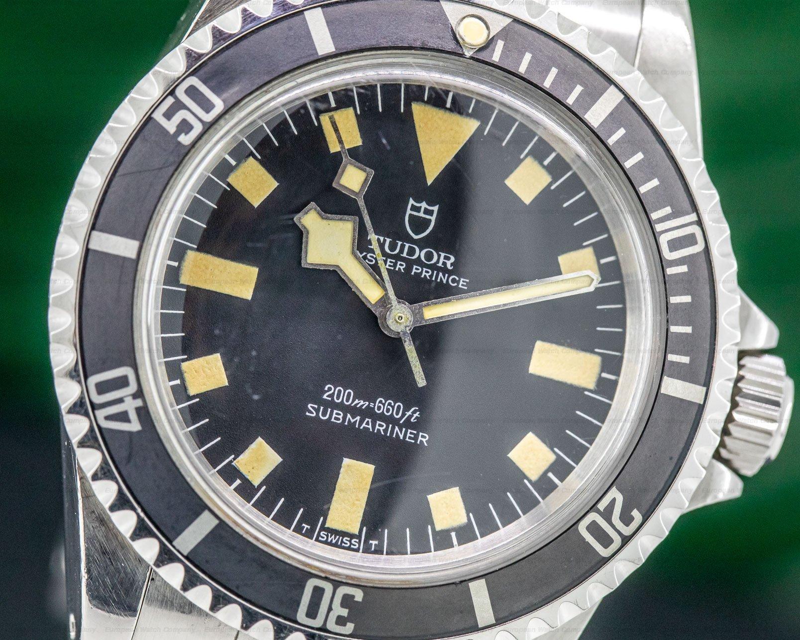 "Tudor 94010 Vintage Submariner Matte Dial No Date ""Snowflake"" SS"