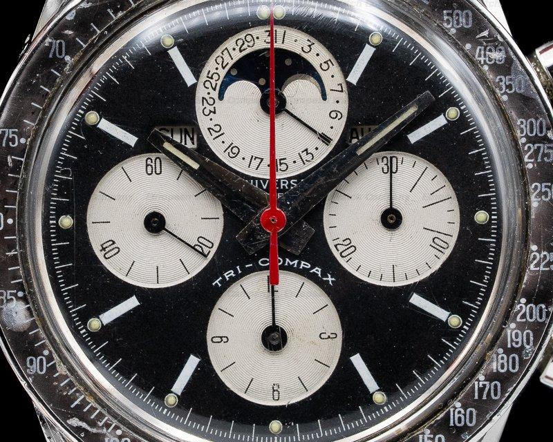 """Universal Geneve 881101/02 Vintage """"Evil Clapton"""" Tri-Compax SS"""