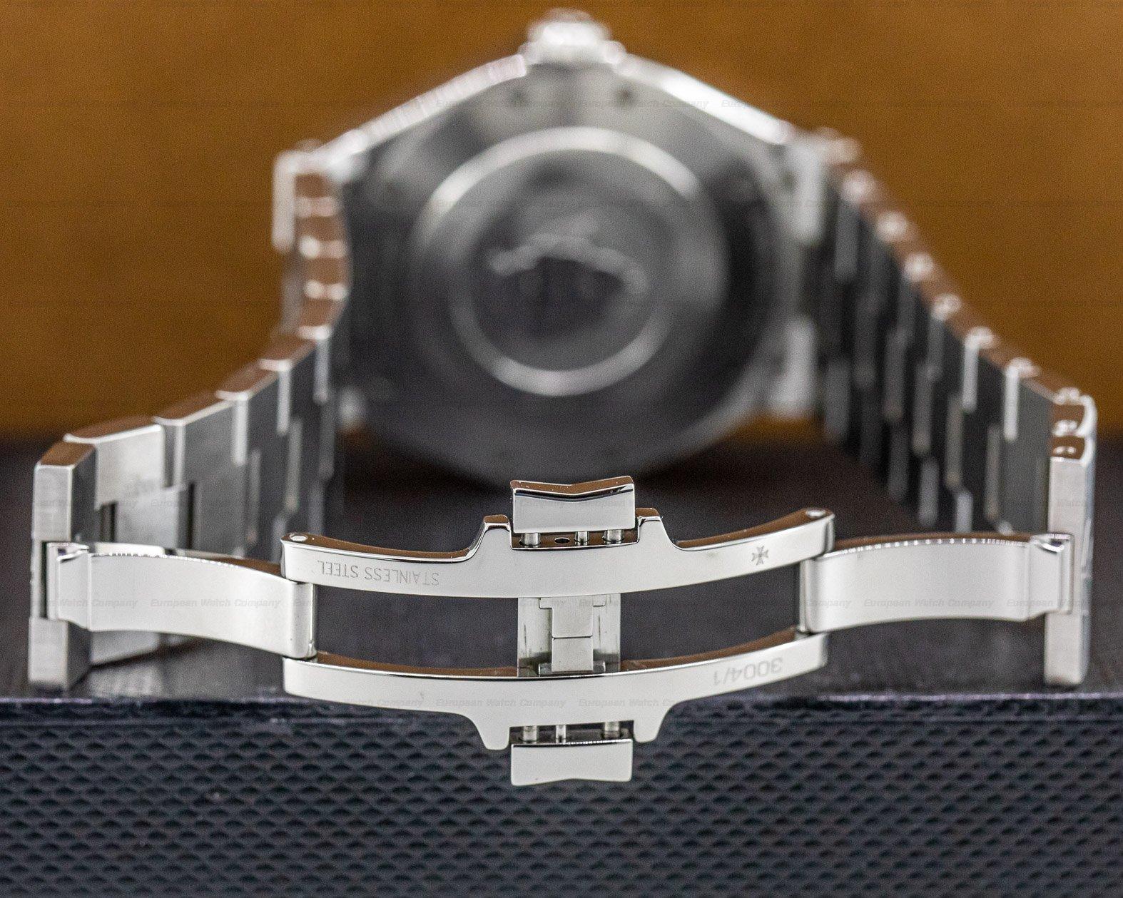 "Vacheron Constantin 47040/000W-9500 Overseas ""Deep Stream"" Automatic Grey Dial Titanium / SS BRACELET"