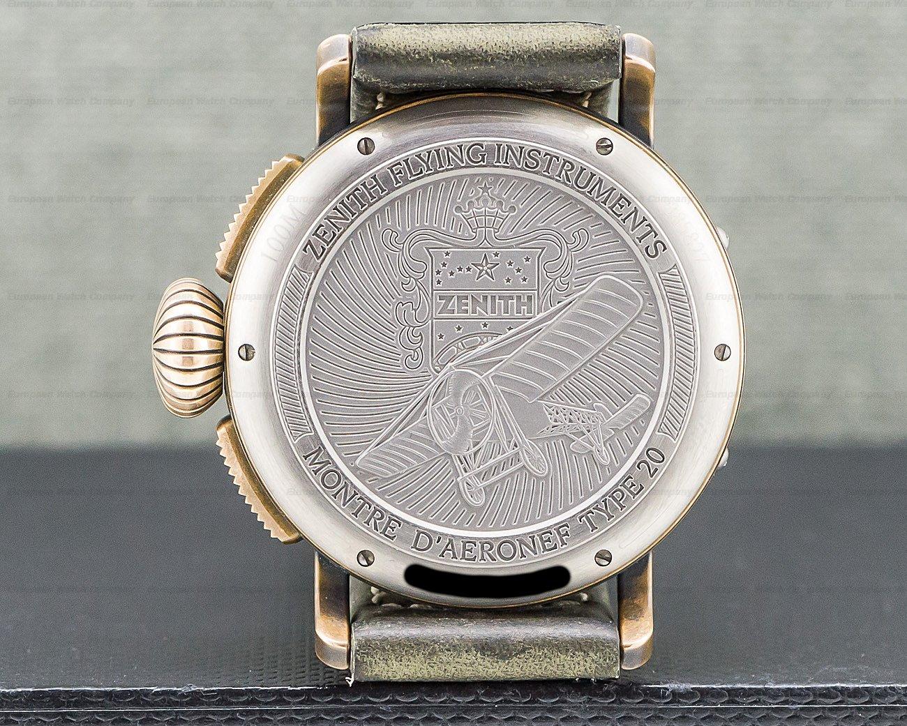 Zenith 29.2430.4069/21.C800 Heritage Pilot Type 20 Chronograph SS