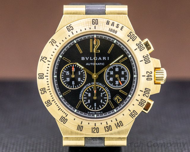 Bvlgari CH40GTA Bulgari Diagono Professional Chronograph 18K Yellow Gold