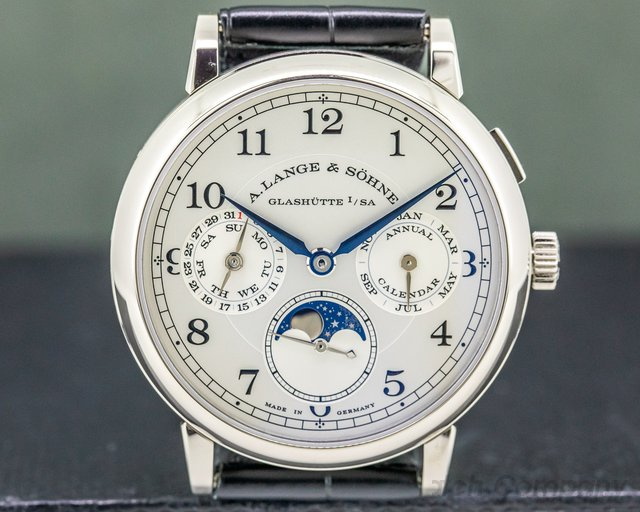 A. Lange and Sohne 238.026 1815 Annual Calendar 18k White Gold UNWORN