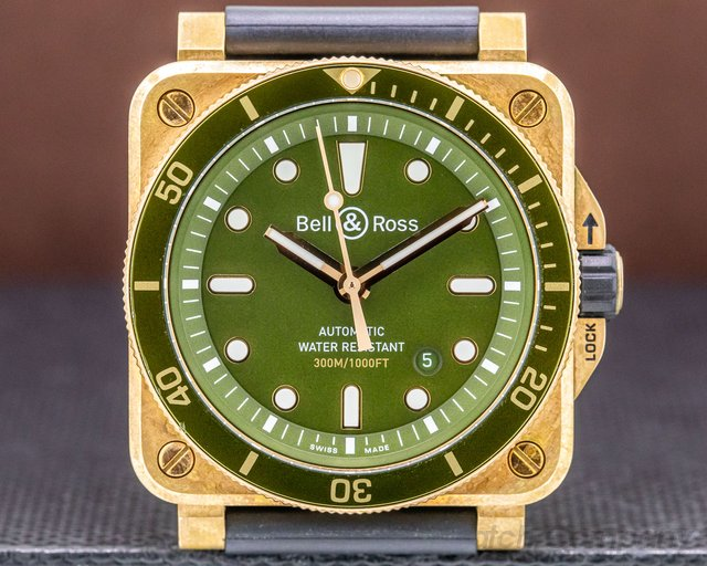 Bell & Ross BR0392-D-G-BR/SCA BR 03-92 Diver Bronze Green Dial Automatic 42mm LIMITED