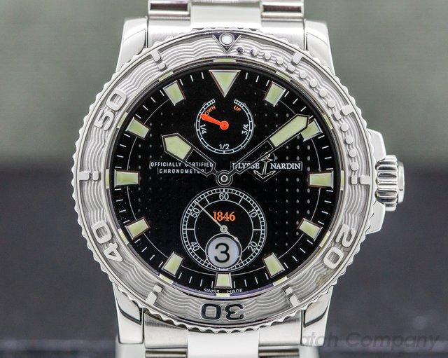 Ulysse Nardin 263-33 263-33-7 Maxi Marine 1846 Diver Silver Dial SS