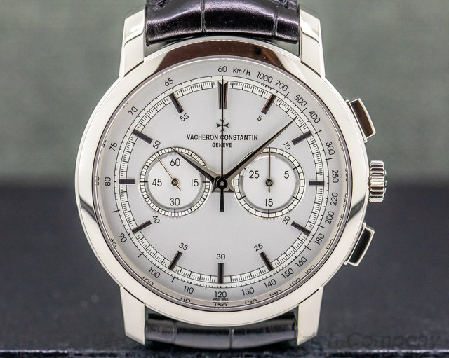 Vacheron Constantin 47192/000g-9504 Patrimony Traditionnelle Chronograph 18K White Gold