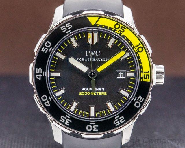 IWC IW356802 Aquatimer 2000 Black Dial SS / Rubber