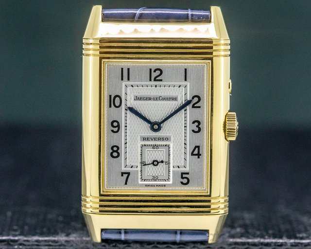 Jaeger LeCoultre 270.140.542 Reverso Duo 18K Yellow Gold / 18k Tang Buckle