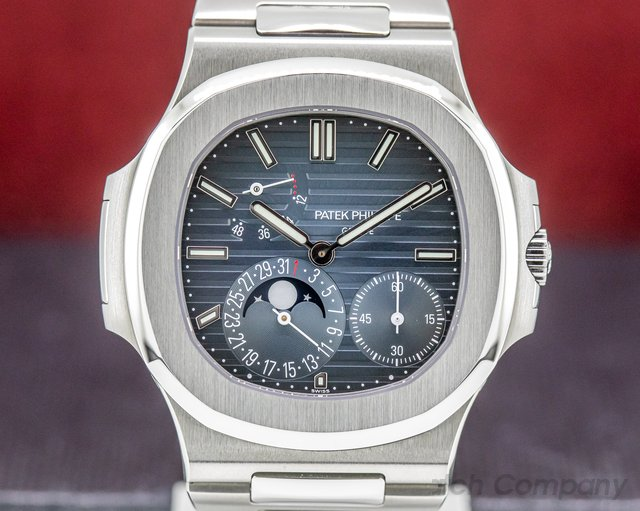 Patek Philippe 5712/1A-001 Jumbo Nautilus Moonphase Power Reserve SS 2019
