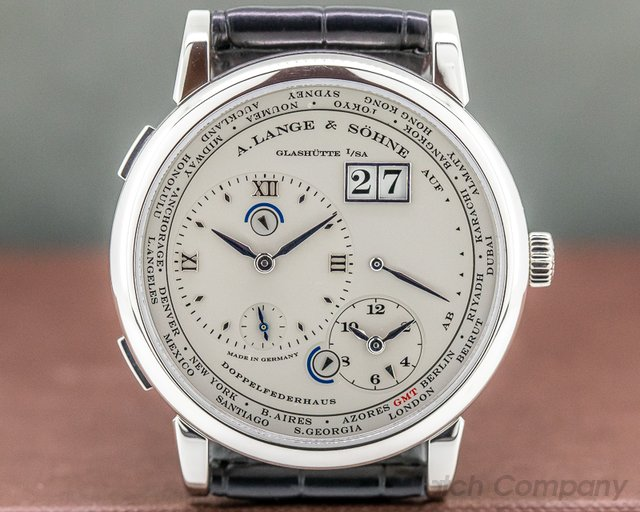 A. Lange and Sohne 116.025 Lange 1 Time Zone Platinum