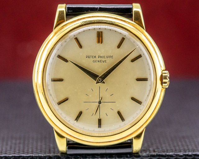 Patek Philippe 2552 Calatrava 2552 Automatic 'DISCO VOLANTE' 18K Yellow Gold 1957