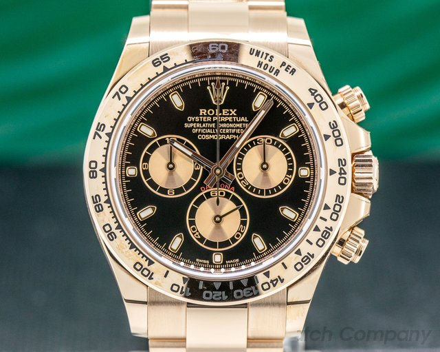 Rolex 116505 Daytona Everose Black Dial 18K Rose Gold / Bracelet 2019