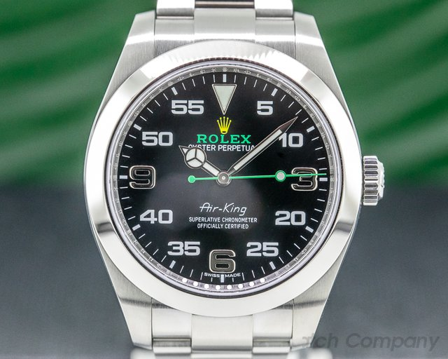 Rolex 116900 Air King Black Dial SS