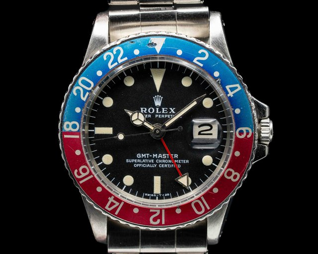 "Rolex 1675 GMT Master 1675 Blue / Red ""Pepsi Bezel"" CLEAN"