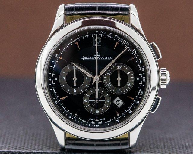 Jaeger LeCoultre 1538470 Master Control Chronograph SS Black Dial