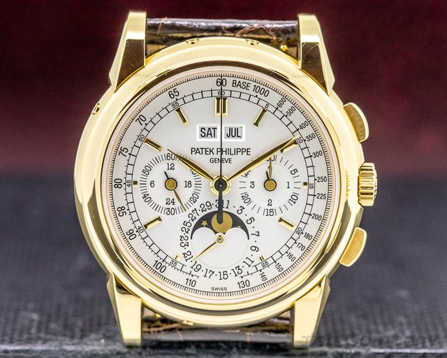 Patek Philippe 5970J-001 Perpetual Calendar 5970J Chronograph 18K Yellow Gold RARE FULL SET