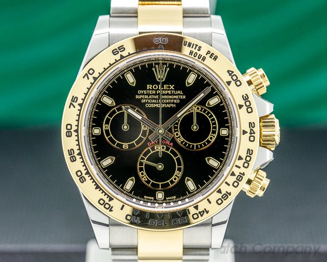 Rolex 116503 Daytona Black Dial 18K / SS FULL SET 2019