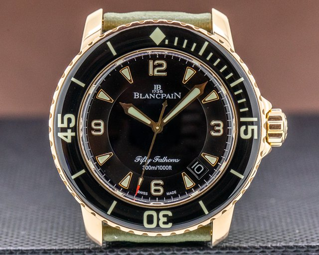 Blancpain 5015-3630-52 Fifty Fathoms 18K Rose Gold / Kevlar