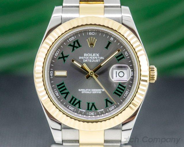 Rolex 116333 Datejust II Grey Dial  18K / SS