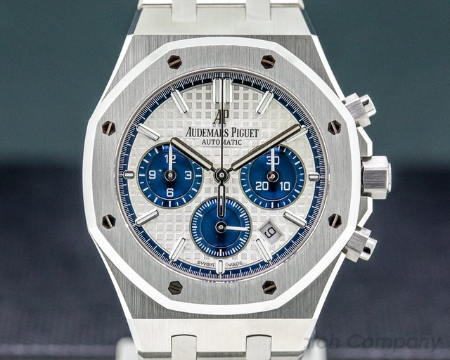 Audemars Piguet 26315ST.OO.1256ST.01 Royal Oak Chronograph Silver Dial SS 38MM UNWORN