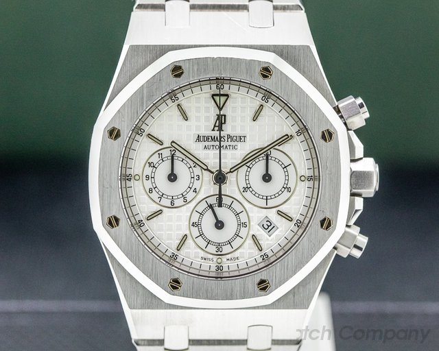Audemars Piguet 25860ST.O.1110ST.05 Royal Oak Chronograph White Dial SS FULL SET