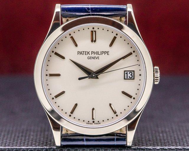 Patek Philippe 5296G-010 Calatrava 18K White Gold Silver Dial